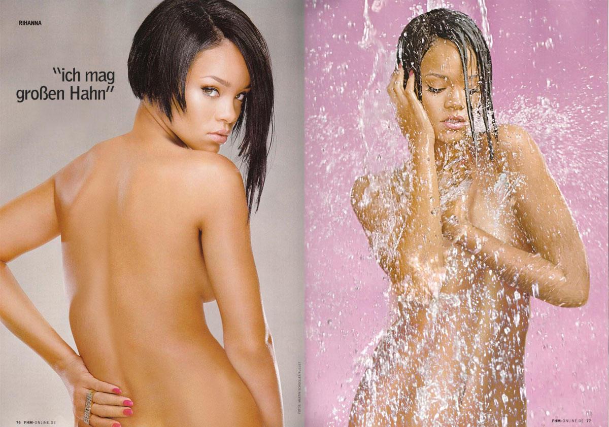 Rihanna poses nude for lui magazine
