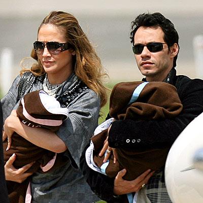 Jennifer Lopez and Marc Anthony Twins